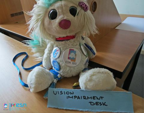 Mascot of ESN IBS during the activity