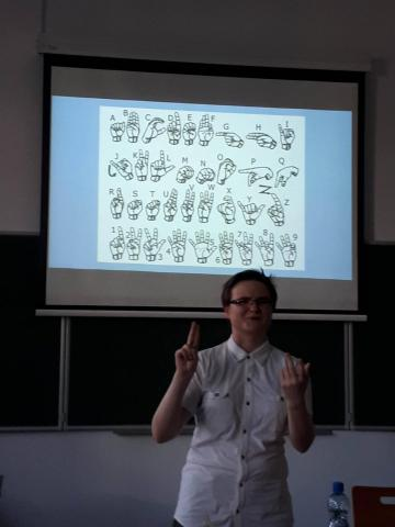 sign language, workshop, esn-eye