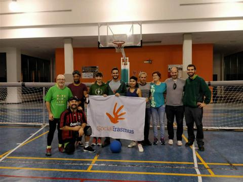 Goalball in Vitoria (ESN Bilbao delegation)