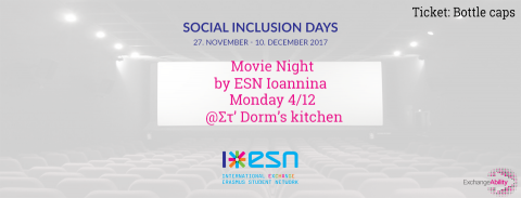 "Movie Night by Esn Ioannina, ""The Intouchables"""